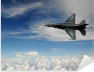 Fighter jet in the sky Pixerstick Sticker