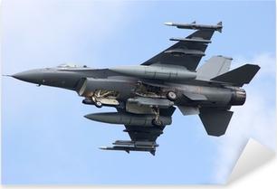 Sticker Pixerstick Fighter jet