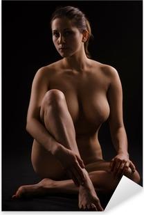 Sticker Pixerstick Figure d'une femme nue