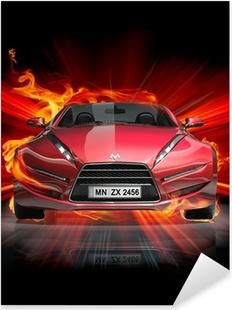 Fire car Pixerstick Sticker