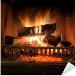 Fireplace Pixerstick Sticker