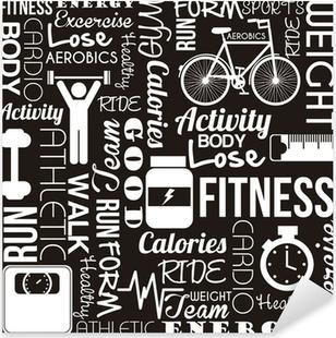 Pixerstick Sticker Fitness vector