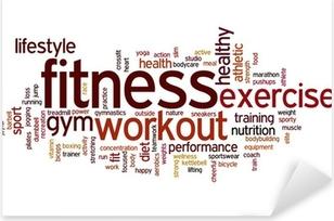 Fitness word cloud Pixerstick Sticker