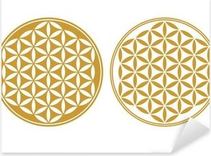 Sticker Pixerstick Fleur de Vie - Icône de protection, la Géométrie Sacrée