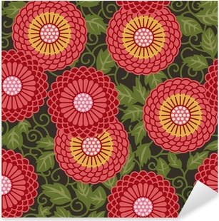 Sticker Pixerstick Fleurs traditionnelles, seamless