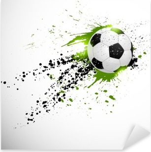 Flying soccer ball Pixerstick Sticker