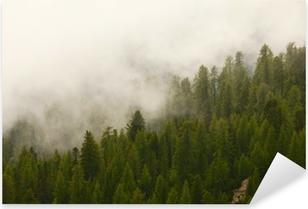 Foggy forest Pixerstick Sticker