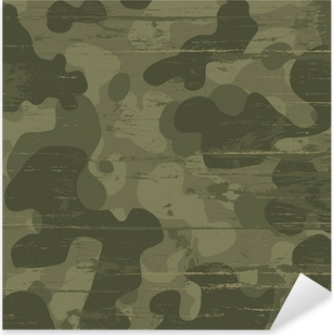 Sticker Pixerstick Fond de camouflage militaire. Vector illustration, EPS10