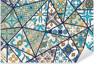 Sticker Pixerstick Fond décoratif de vecteur. modèle de patchwork de mosaïque pour la conception et la mode