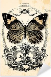 Sticker Pixerstick Fond papillon