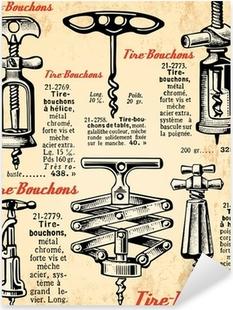 Fond tire-bouchons Pixerstick Sticker