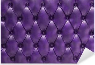 Sticker Pixerstick Fonds violet recouvert de Cuir naturel matelassé