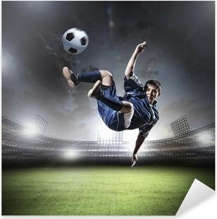 Football player Pixerstick Sticker
