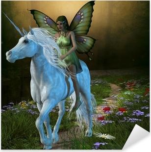 Forest Fairy and Unicorn Pixerstick Sticker