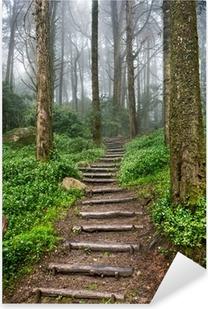 Forest path Pixerstick Sticker