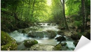 forest waterfall Pixerstick Sticker