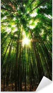 Sticker Pixerstick Forêt de bambous en Damyang, Corée du Sud.