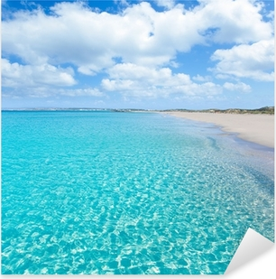 Formentera Llevant tanga turquoise beach Pixerstick Sticker