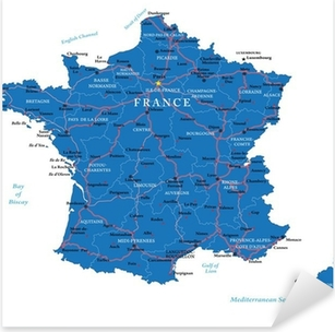 France map Pixerstick Sticker