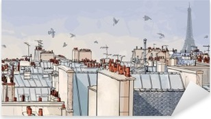 France - Paris roofs Pixerstick Sticker