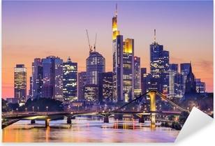 Frankfurt, Germany City Skyline Pixerstick Sticker