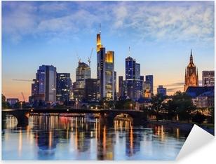 Pixerstick Sticker Frankfurt skyline, Duitsland