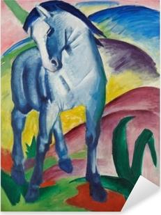 Pixerstick Sticker Franz Marc - Modrý kůň
