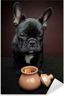 French Bulldog Pixerstick Sticker