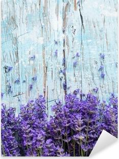 Fresh lavender on wood Pixerstick Sticker