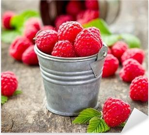 Fresh raspberry Pixerstick Sticker