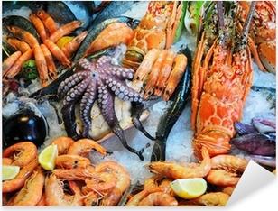 Fresh seafood Pixerstick Sticker