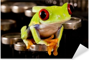 frog Pixerstick Sticker