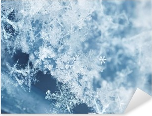 Frosty snow flakes Pixerstick Sticker