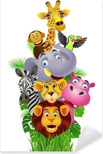 Funny animals Pixerstick Sticker