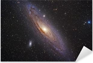 Sticker Pixerstick Galaxie d'Andromède
