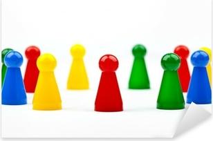 Game Pieces/Figures Pixerstick Sticker