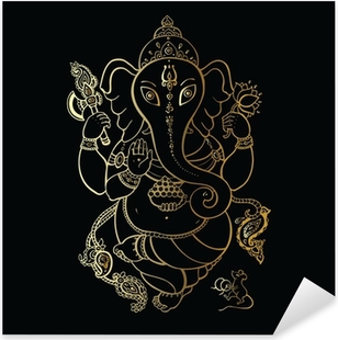 Ganesha Hand drawn illustration. Pixerstick Sticker