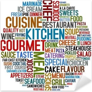 Pixerstick Sticker Gastronomische en keuken