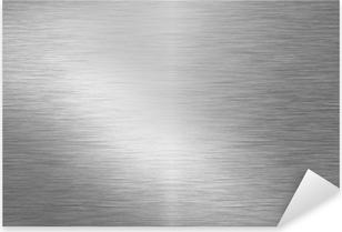 Pixerstick Sticker Geborsteld metalen plaat