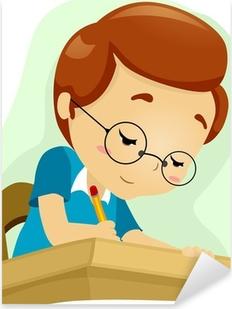 Geeky Student Pixerstick Sticker