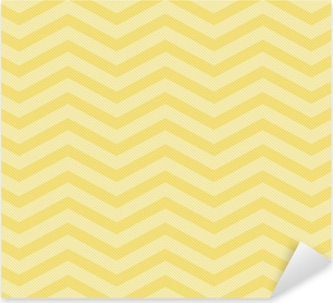 Pixerstick Sticker Gele Chevron Zigzag geweven stof Achtergrond van het Patroon