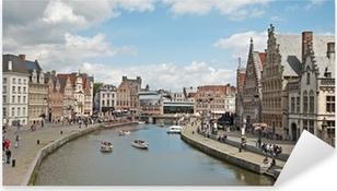 Pixerstick Sticker Gent - Typisch paleizen uit Korenlei en Graselei straat