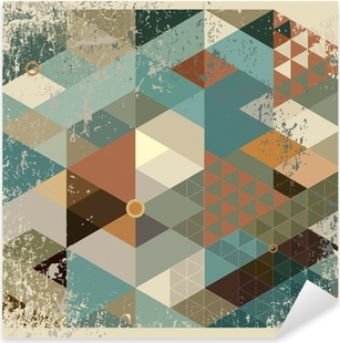 geometric background Pixerstick Sticker