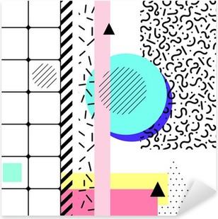 Geometric elements memphis Pixerstick Sticker