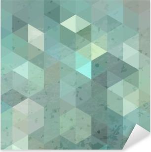 Geometric retro background with grunge texture Pixerstick Sticker