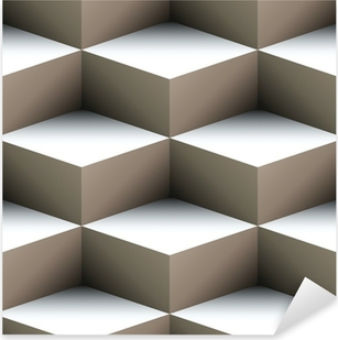 Geometric seamless pattern made of stacked cubes Pixerstick Sticker