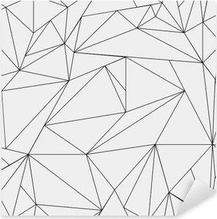 Geometric simple black and white minimalistic pattern, triangles or stained-glass window. Can be used as wallpaper, background or texture. Pixerstick Sticker
