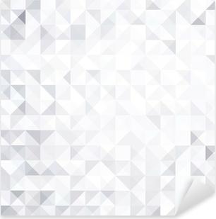 geometric style abstract white & grey background Pixerstick Sticker