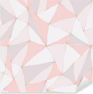 Pixerstick Sticker Geometrisch naadloos patroon. abstracte veelhoekige achtergrond. driehoek vector pastel achtergrond.