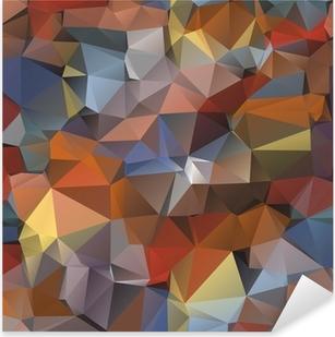 Pixerstick Sticker Geometrisch patroon, driehoeken achtergrond.